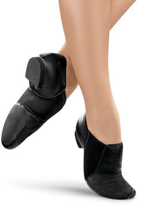 Balera Black Slip-On Jazz Shoes - Adult