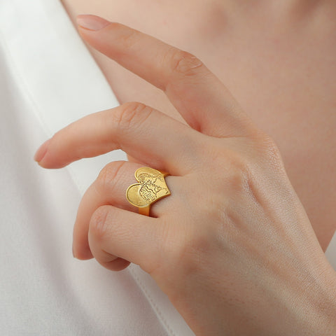 gold photo ring