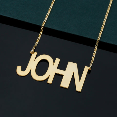 custom name necklace gold