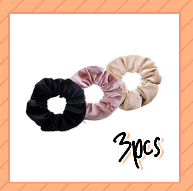 Tie-Dye Velvet Scrunchies with Hidden Pocket