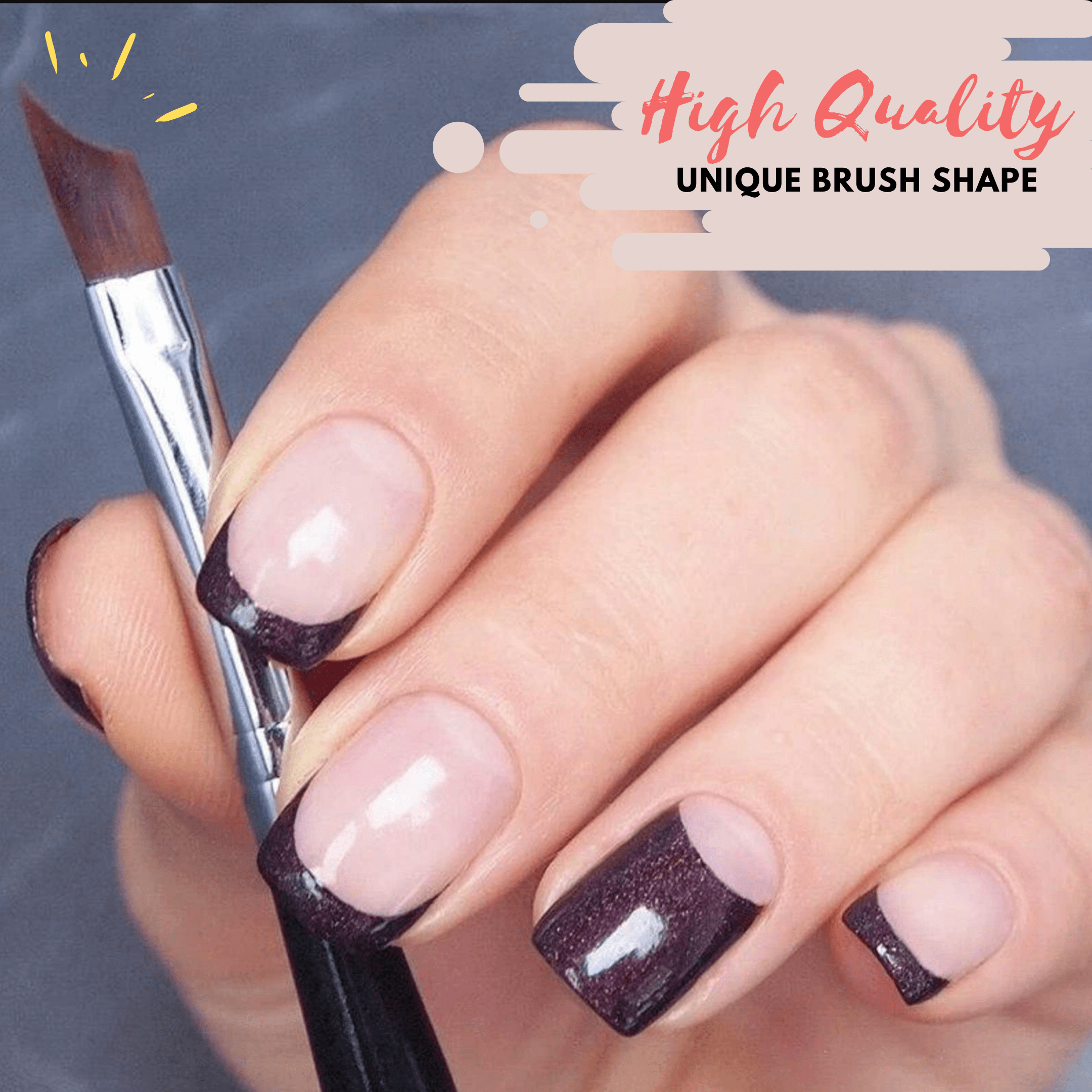 FrenchTip Oblique Nail Brush