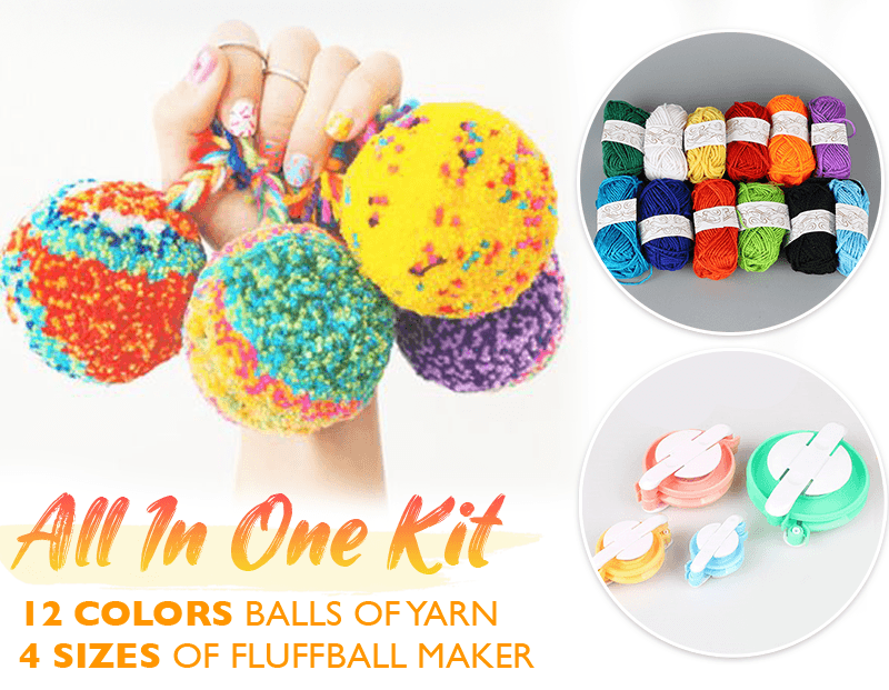 DIY PomPom Maker Mat Knitting Set