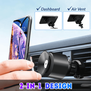 VacuumHold 2-in-1 Car Phone Holder
