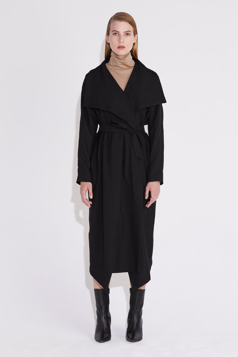 Axis Trench Dress - Black