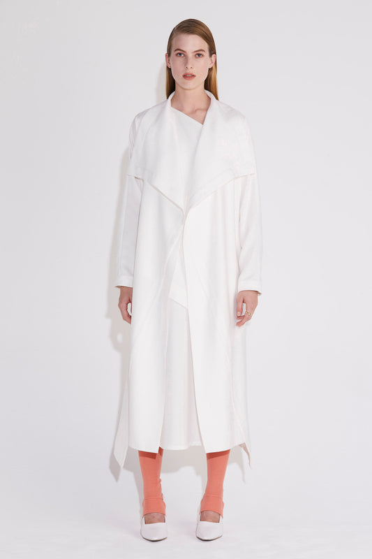 Axis Trench Dress - Ivory