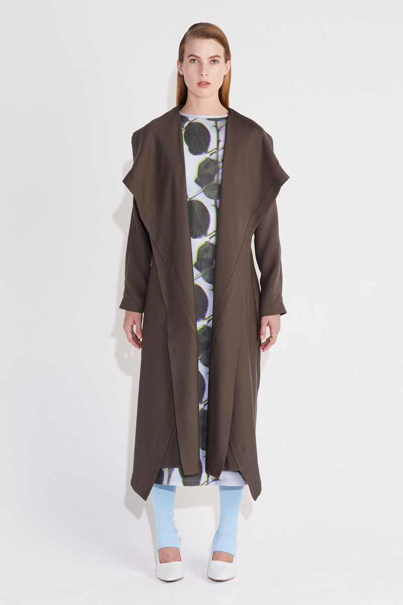 Axis Trench Dress - Khaki