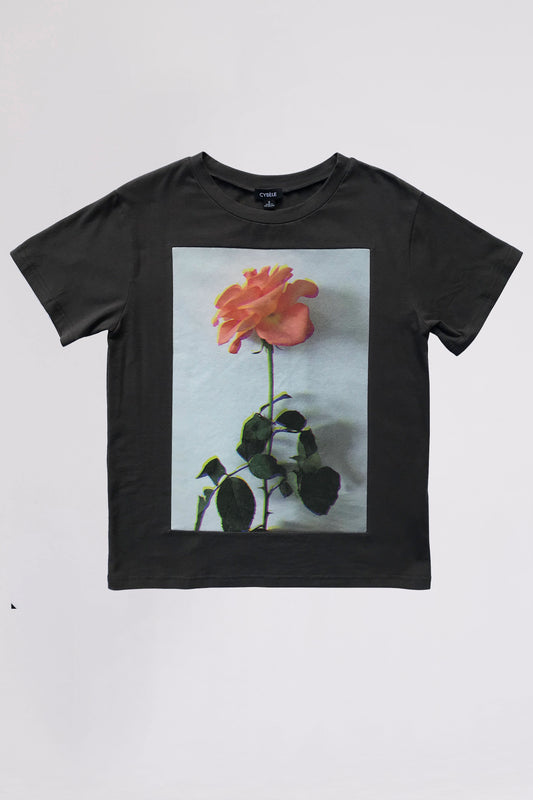 Hologram Rose Panel T Shirt