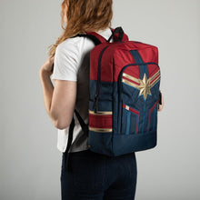 Load image into Gallery viewer, Marvel Captain Marvel Padded Strap Backpack Laptop Bookbag Daypack School Bag