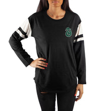 Load image into Gallery viewer, Harry Potter Slytherin Long Sleeve Football Tee