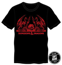 Load image into Gallery viewer, D&D Dragons with Dice Shirt in Red