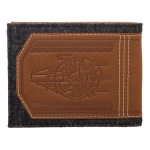 Disney Star Wars Han Solo Faux Leather Outlaw Wallet, BiFold Wallet with Character Costume Appeal
