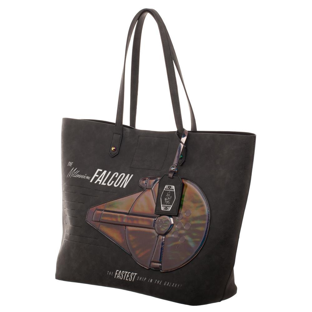 Star Wars Han Solo Millennium Falcon Oversized Tote With Iridescent Applique