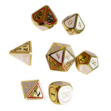 Load image into Gallery viewer, 7pcs gold colored dices set