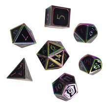 Load image into Gallery viewer, 7pcs Metal Dice set for RPGs