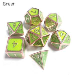 7pcs / Metal Dice set  For RPG games