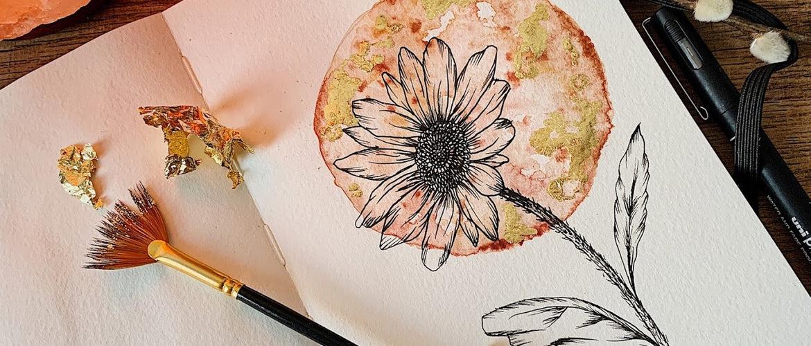 Learn How I Create My Floral Watercolour Moons