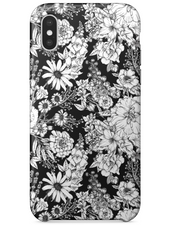 iPhone X | Classic Monochrome Florals Phone Case