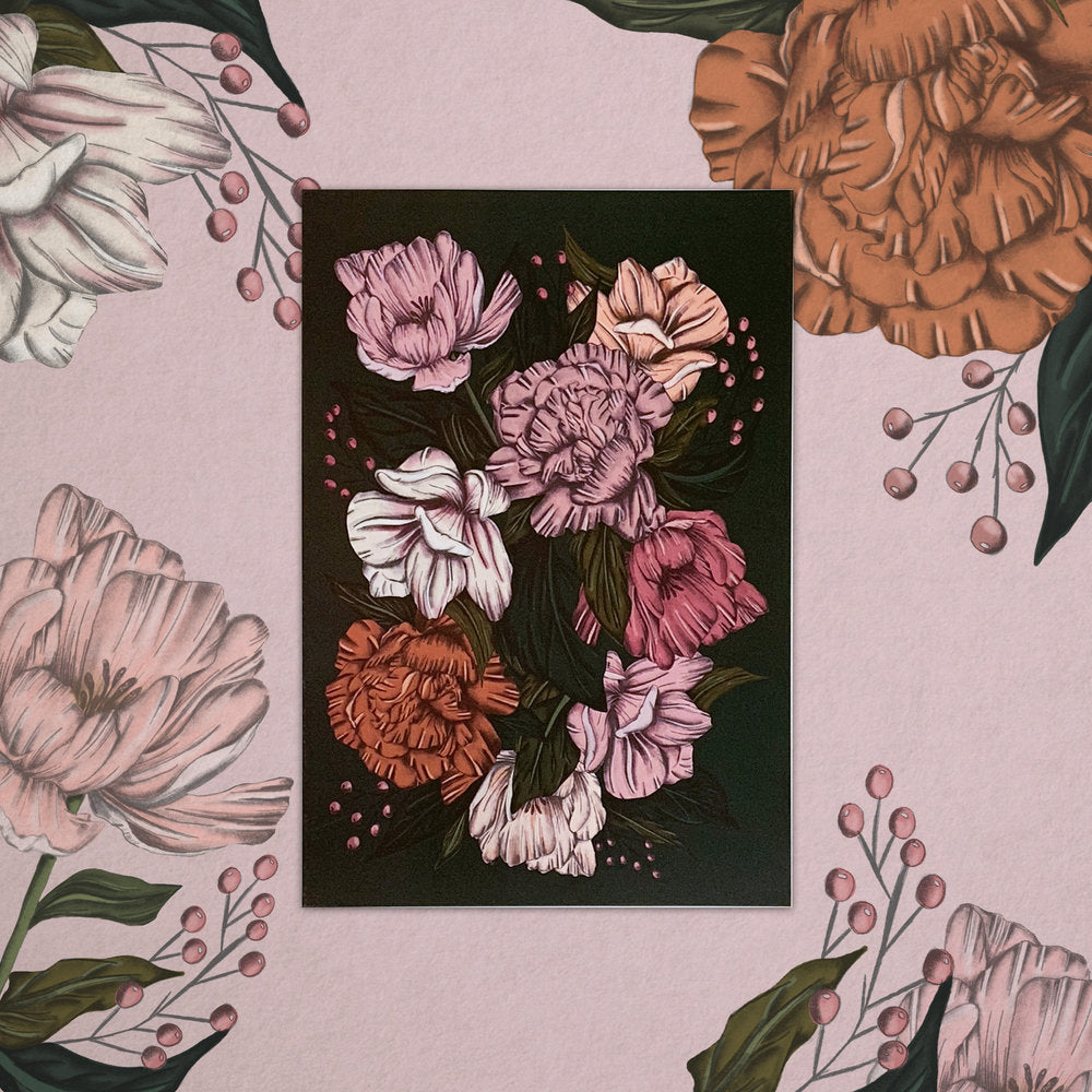Peony Blush | A5 Print - Felicity & Ink