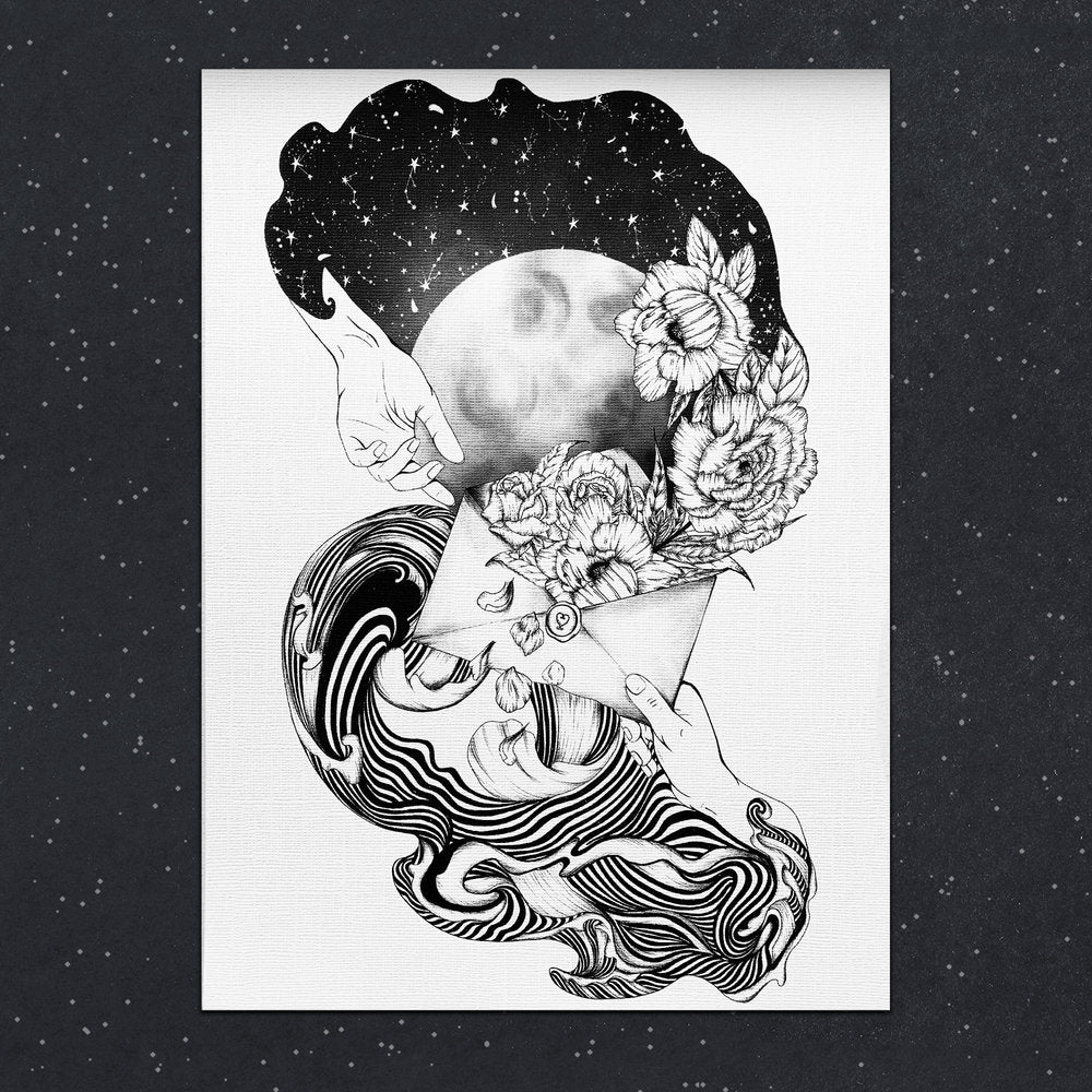 Celestial Letter | A4 Print - Felicity & Ink