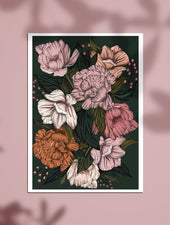 Peony Blush | A4 & A5 Art Prints - Felicity & Ink