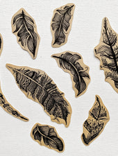 Tribal Feathers | Kraft Sticker Set - Felicity & Ink