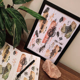 Boho Jewels | A4 & A5 Art Prints - Felicity & Ink