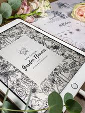 How To Draw Garden Flowers Ebook | Digital Download - Felicity & Ink