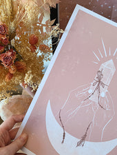Minimal Boho, Rose Quartz | A4 & A5 Art Prints - Felicity & Ink