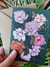 Peony Blush | Greeting Card - Felicity & Ink