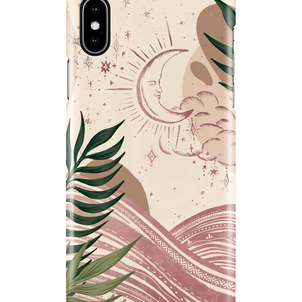 iPhone XS Max | Celestial Moon Phone Case - Felicity & Ink