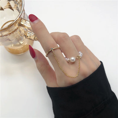 2020 Fashion Simple Design anillos Vintage Silver Color Joint Rings Sets for Women Jewelry Korean Version Joint Rings