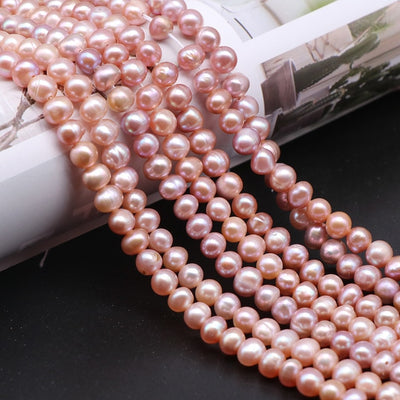 8mm Natural Pearl White/Pink/Purple 925 Sterling Silver 16/18/20 Inch Chain Necklace Woman Engagement Wedding Jewelry