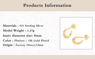 100% 925 Sterling Silver Stud Earrings For Women Rivet Zircon Chain Earings Piercing pendientes plata 925 Aretes W5