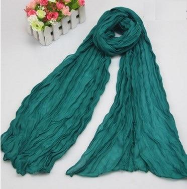 2018 New Europe  Fashion 23 Colors Candy Solid Colors Soft Trendy Long Voile Scarfs Winter Warm Scarf Women Scarf Shawl Blue