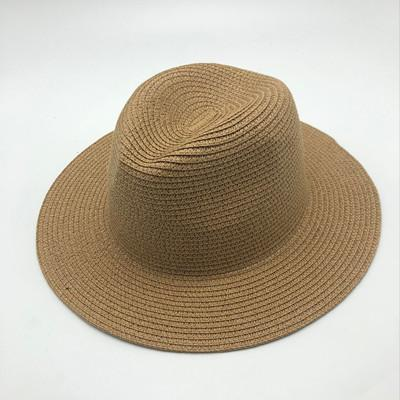 2019 Summer unisex sun hat casual vacation Panama straw hat women wide brim Beach jazz men hats Foldable Chapeau