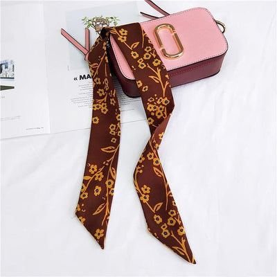 2019 new scarf small scarf national wind flower wild family headdress hair band small scarves spring and summer