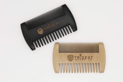 Trident Beard Co. Peach Wood Beard Comb
