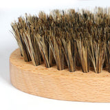 Trident Grooming Boar Hair Bristle Wooden Brush