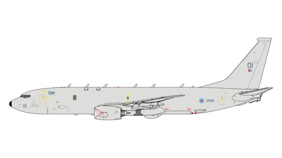 GeminiJets GMRAF100 1:400 Royal Air Force Boeing P-8A Poseidon ZP801