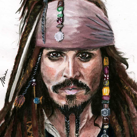Toile Mina - Johnny Depp 01