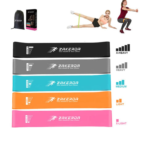 5pcs Fitness Resistance Bands - Mrhealthys