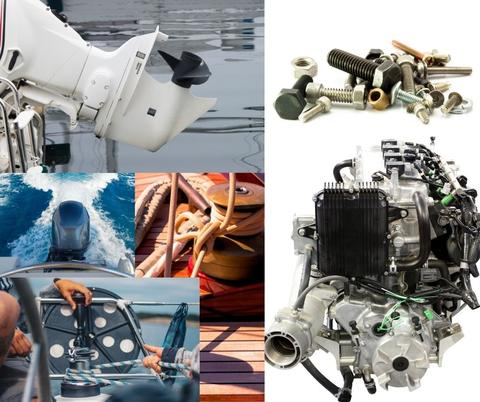 boat's engine,  spark plugs, steering system