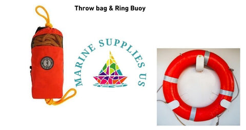 Throw bag and ring buoy flotation devices
