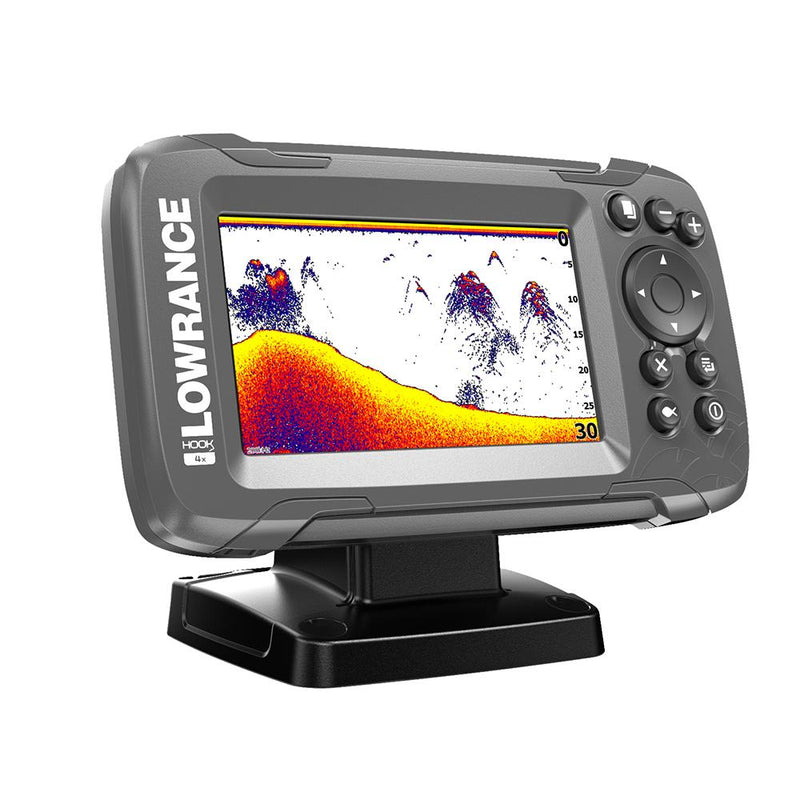 "Lowrance HOOK2-4x 4"" Bullet Fishfinder Transom Mount Bullet Skimmer Transducer [000-14012-001] - Budget Boat Things"