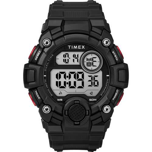 Timex Men&#39s A-Game DGTL 50mm Watch - Black/Red - Budget Boat Things