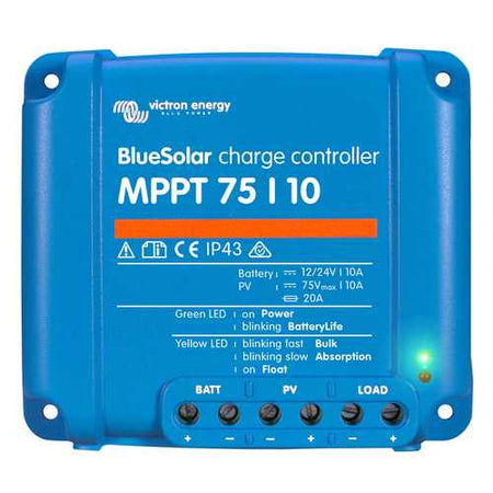 Victron BlueSolar MPPT Charge Controller - 75V - 10AMP - Budget Boat Things