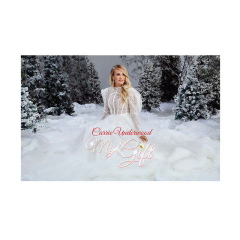 My Gift White Dress Poster