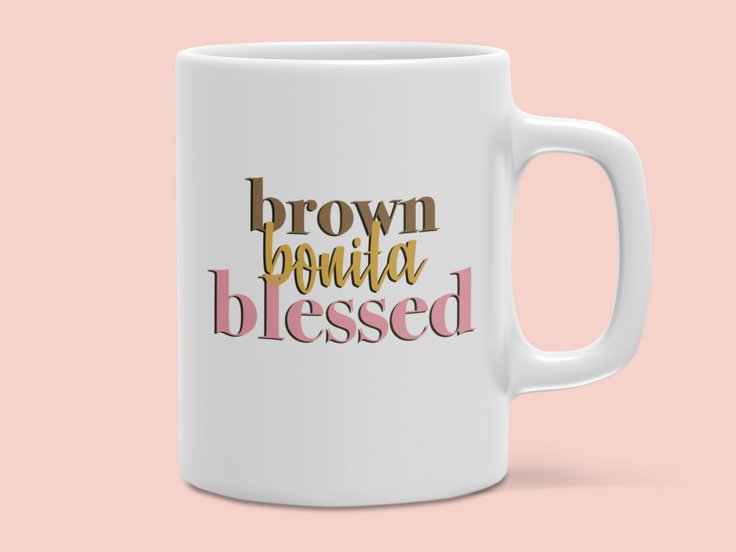 Brown Bonita Blessed Mug
