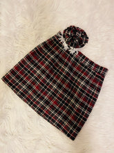 Load image into Gallery viewer, Mini and Headpiece Set in Burgundy Plaid