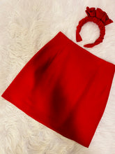 Load image into Gallery viewer, Mini Skirt and Headpiece Set in Red